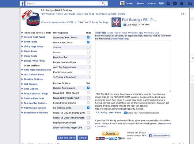 FB Purity is one example of a Facebook alteration Chrome productivity extension