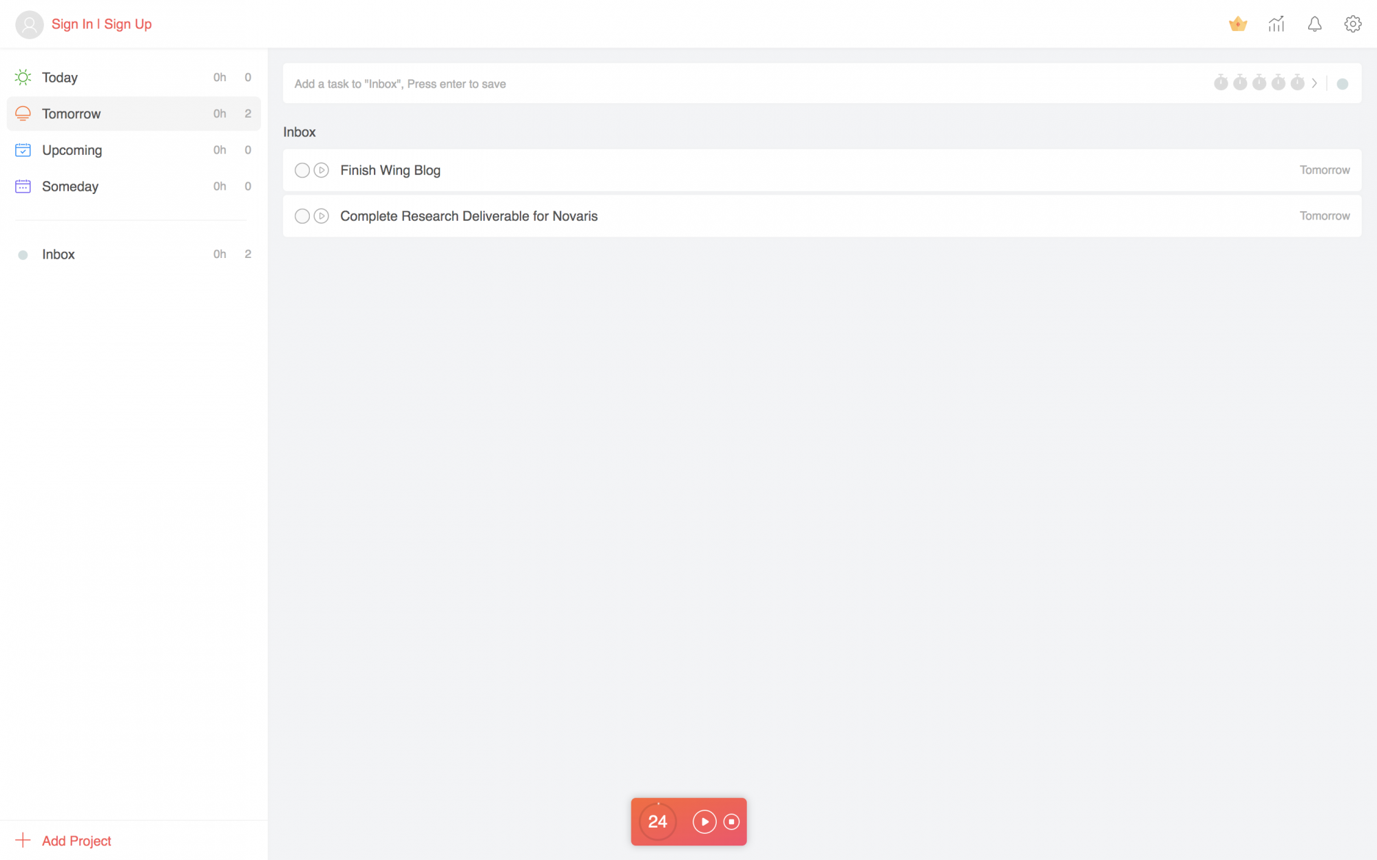 This Pomodoro tracker is one great way to keep track of work time