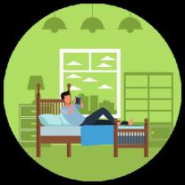 Having a soothing pre-sleep ritual helps you unwind before bed.