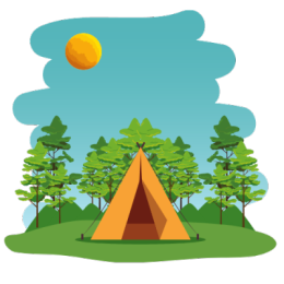 Camping is a great outdoor staycation actiity.